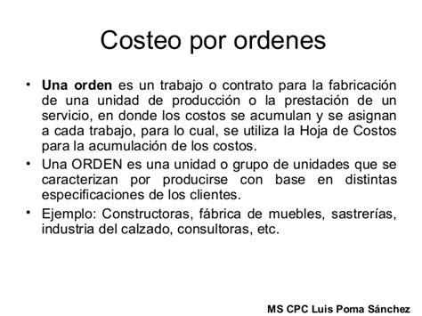 Costos Por Ordenes   costos por ordenes