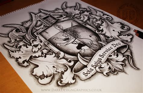 tattoo galleries family crest family coat of arms tattoo design dark design graphics