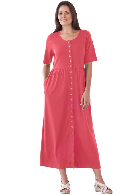 only necessities dress with button front empire