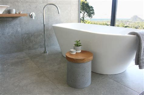 Bathtub Side Table by Concrete Side Table Stool Bath Sidetable Timber Top