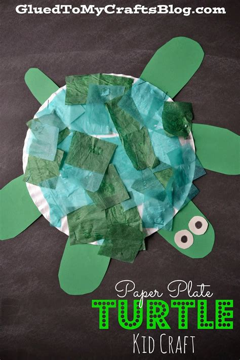 craft made by paper paper plate turtle kid craft