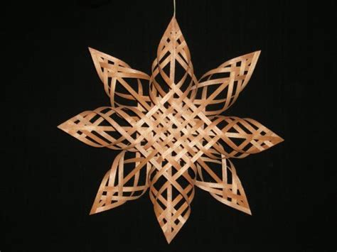 pattern for woven snowflake ornament carolina snowflake cherry wood 13 inches across