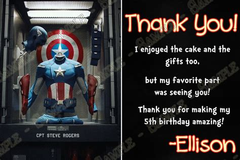 Captain America Birthday Card Template by Novel Concept Designs Captain America Birthday