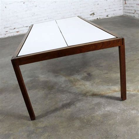 Knoll Walnut And White Laminate Lewis Butler Coffee Table Lewis Coffee Tables Sale