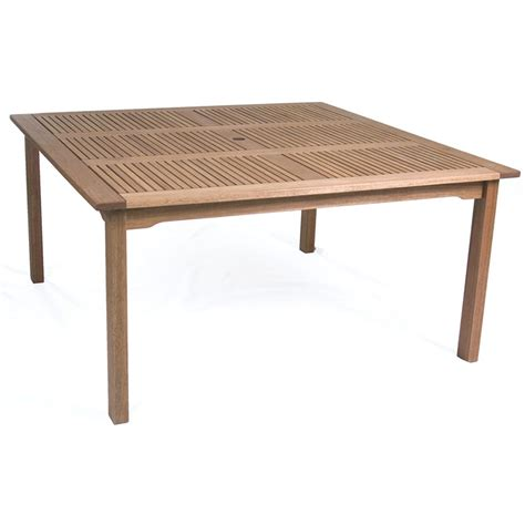 square dining table with bench amazonia richfield 8 person eucalyptus patio square dining