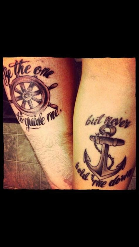 nautical couple tattoos 20 best images about be the one to guide me but never