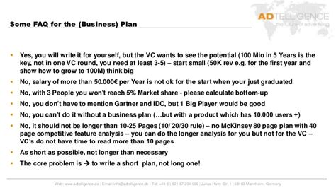 Mannheim Mba Salary by Mba School Mannheim How To Write A Business Plan