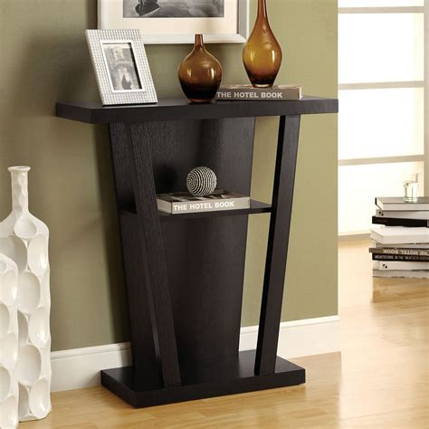 entry accent tables monarch specialties i 25 hall console accent table lowe