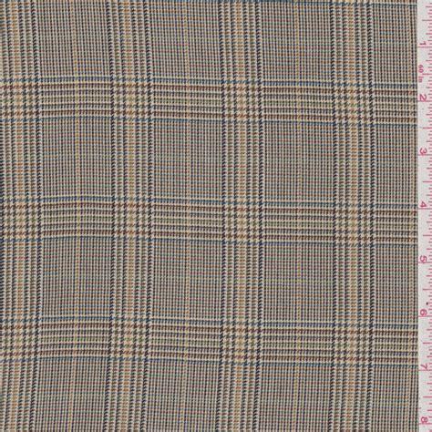 glen plaid upholstery fabric tan multi glen plaid suiting fabric by the yard ebay