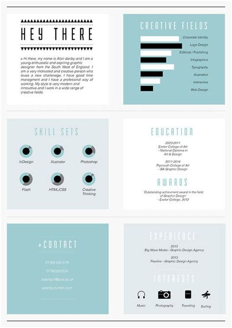 resume layout design behance creative c v by alan danby via behance layouts grids