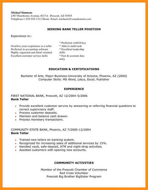 Excellent Resume Sle 2013 by Bank Teller Resignation Letter Memo Exle