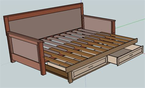 how to make a daybed frame pull out daybed diy plans trundle bed pinterest