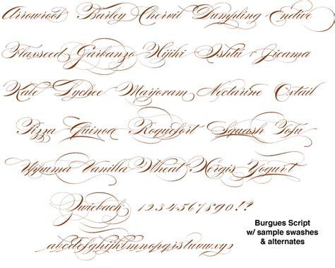 tattoo fonts elegant bowfin printworks script font identification
