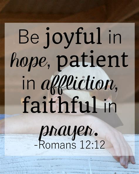 Bible Quotes About Patient by 31 Days Of Bible Verses About Patience Romans 12 12 The