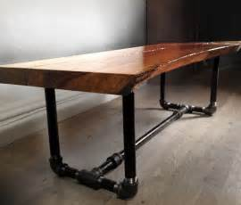 Custom furniture made from reclaimed wood and fallen trees live edge
