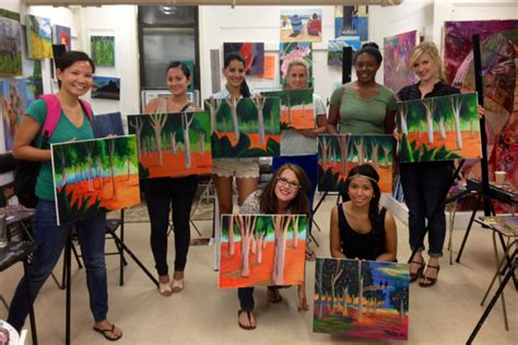 paint nite fails byob one painting and wine the studio ny