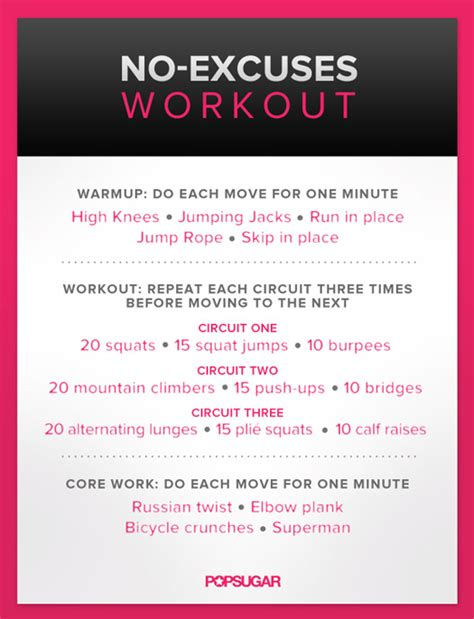 no excuses workout workout and weight workouts