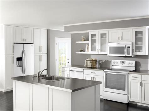 Designed Kitchen Appliances Kitchen Designs With White Appliances Dmdmagazine Home Interior Furniture Ideas