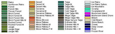 minecraft color guide 1 7 seed raro tutti i biomi entro 2000 blocchi