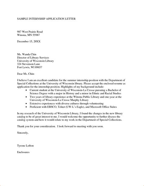 Internship Letter Format 13 How To Write An Internship Letter Sles Basic Appication Letter