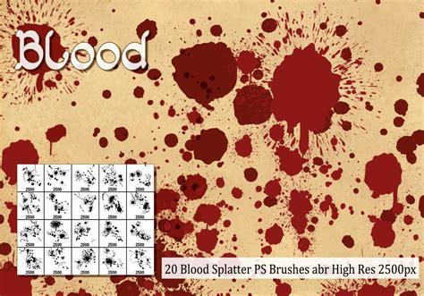 blood pattern brush photoshop blood splatter ps brushes abr free photoshop brushes at