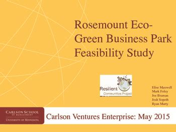 eco house feasibility study rosemount eco green business park feasibility study
