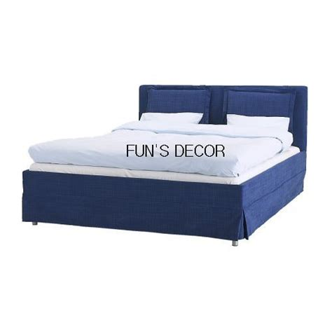 Bed Frame Covers New Ikea Morkedal Bed Frame Cover Slipcover Blue Ebay