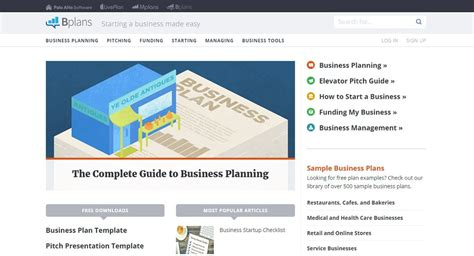 bplans business plan template 4 websites to help quit your and start a business