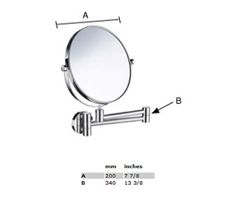 smedbo outline swing arm shaving and make up mirror round smedbo outline swing arm shaving and make up mirror round