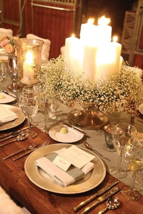 winter table 30 spectacular winter wedding table setting ideas