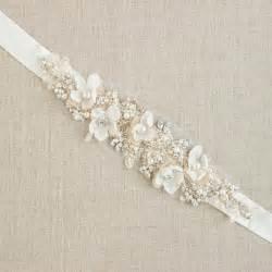Wedding belt bridal belt wedding dress belts sashes floral belt