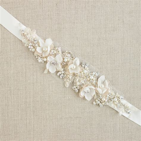 Wedding Dress Belts by Wedding Belt Bridal Belt Wedding Dress Belts Sashes Floral