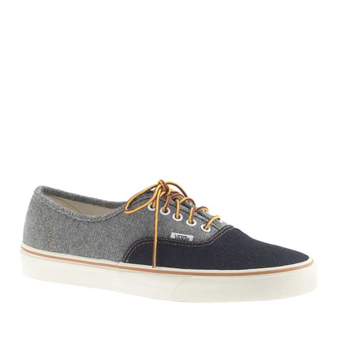 Sneakers Denim 1 j crew vans two tone denim authentic sneakers in blue for lyst