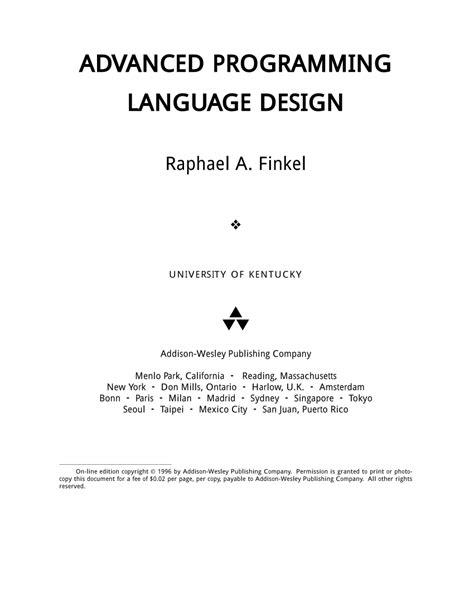 pattern programs in c language pdf advanced programming language design pdf download available