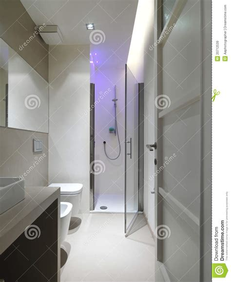 Modern Bathroom With Shower Cubicle Stock Image Image Bathroom Shower Cubicle
