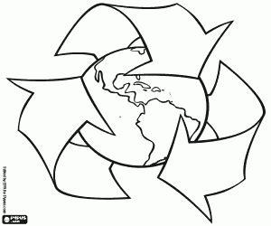 dibujos de reciclaje para colorear az dibujos para colorear el reciclaje ayuda a la tierra para colorear pintar e