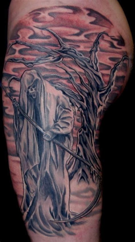 grand reaper tattoos grim reaper tattoos tatoo bull s friggin sweet