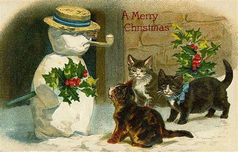 d agement si e social free vintage cards 子猫 動物 ペット クリスマス