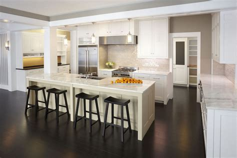 Long Kitchen Island Long Kitchen Island Transitional Kitchen Tea2 Architects
