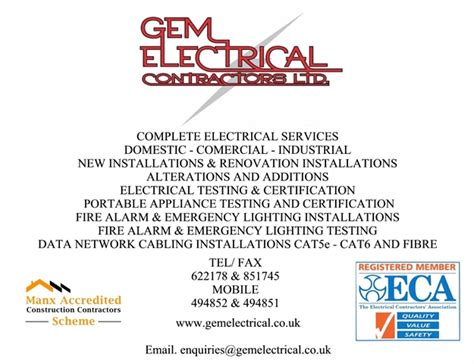 h d electric inc home business card free g e m electrical contractors computer networking cabling electricians electrical