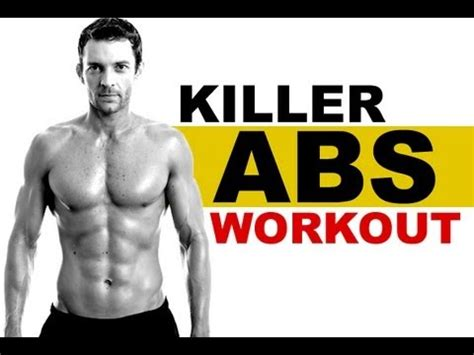 killer home abs workout   equipment youtube