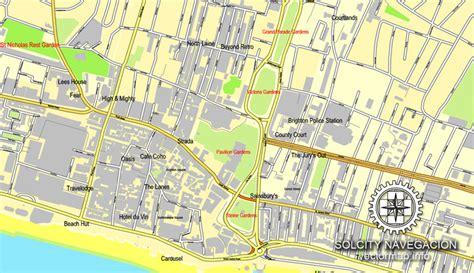 printable maps brighton brighton england uk great britain printable vector