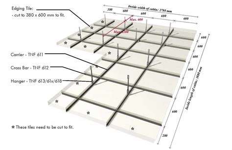 Ceiling Tile Layout tnf ceiling c 46 inexa