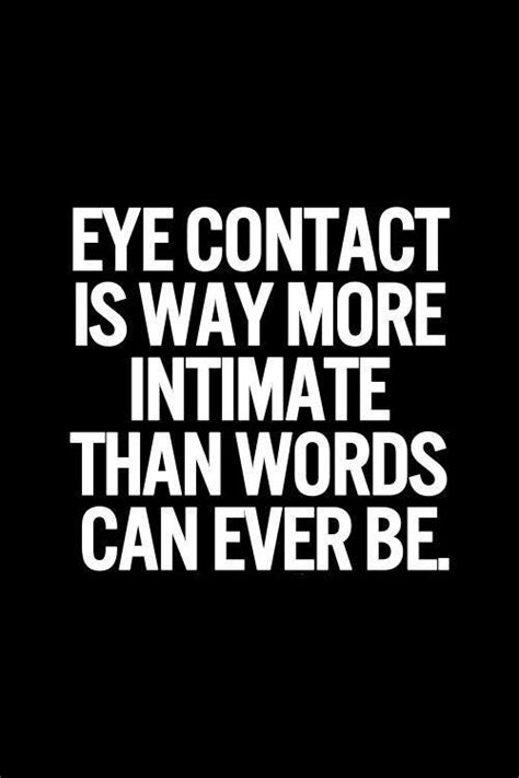 eye contact and attraction