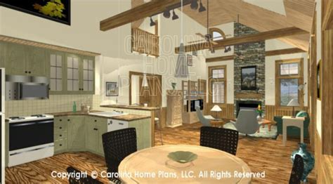 Ranch Style Home Plans With 3 Car Garage #19: Sm1568-3d-dining-balcony-greatroom.jpg