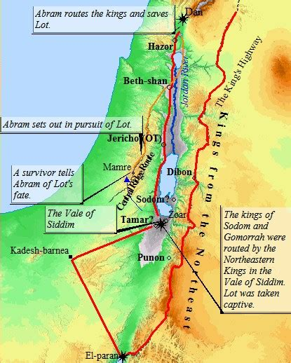 sodom and gomorrah map abraham and lot