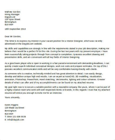 cover letter interior design position essay