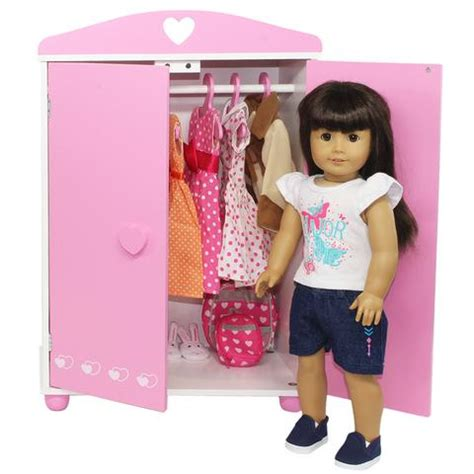 doll armoire for 18 inch dolls doll armoire furniture storage closet for american girl
