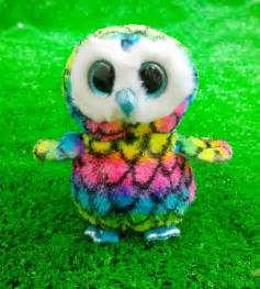 ty beanie boos aria 6 quot owl colorful plush toy big