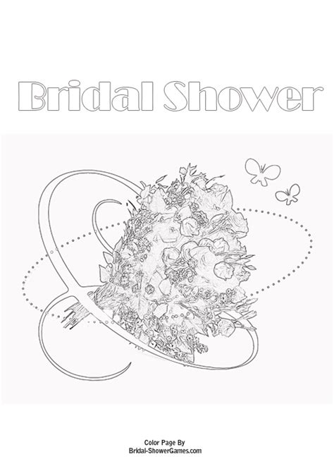 free printable bridal shower coloring pages